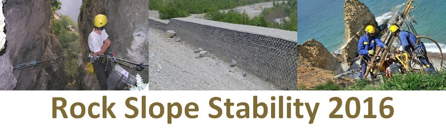 Rock Slope Stability 2016 - Abstract submission deadline extended to January 15, 2016